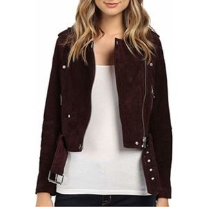 BlankNYC Morning Suede Moto Jacket Large